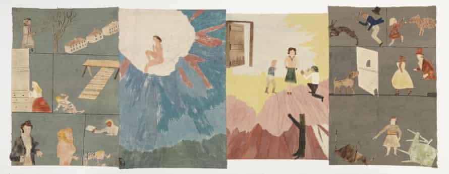 Garçon et Fille/ Bad Grades, 2014 by Jockum Nordström; watercolour, graphite and collage on paper.