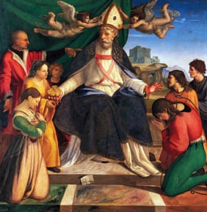 1514: St Nicholas of Bari enthroned by Andrea Sabatini