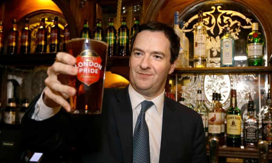 Chancellor George Osborne has reasons to be cheerful.