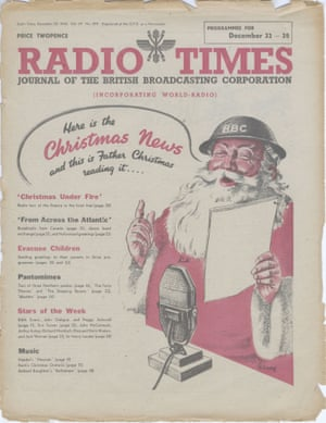 1940 1ST FATHER CHRISTMAS COVER, IN 1940) - These are some of the historic Radio Times covers that have graced our front rooms over the last 90 Christmases - and the nostalgia makes it hard to pick a favourite. From a family round the fire to the first appearance of Santa Claus the Christmas editions of the iconic TV listings magazine remain memorable. The Radio Times is one of the most popular British magazines and received Guinness World Record in 1988 for selling over 11.2 million copies that year. Deputy Editor and art director Shem Law believes it has become an integral part of the British Christmas experience. SEE CATERS COPYnews, christmas, covers, radio, times