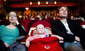 Baby and parents at cinema