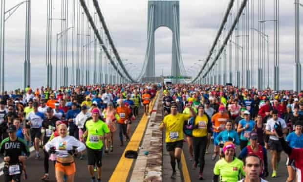 New York marathon, one of the largest marathons in the world, is also the priciest.