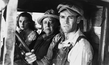 Dorris Bowden, Jane Darwell and Henry Fonda in The Grapes of Wrath