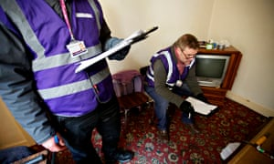 Housing enforcement officers inspecting rental premises in Blackpool
