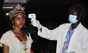 Ethiopia health worker in Liberia
