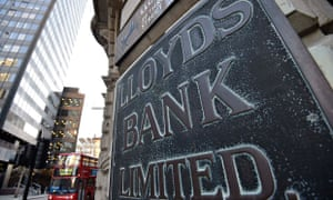 A branch of Lloyds Bank is seen in the City of London