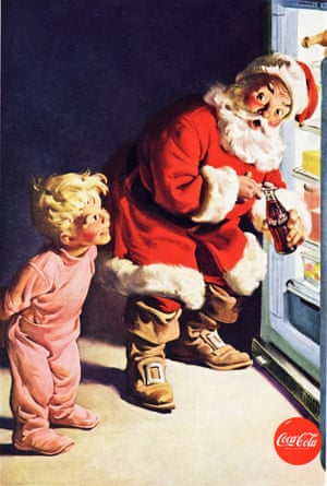Classic Coca Cola advert Father Christmas 1959.