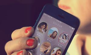 Scissr: a new 'mind-blowing' dating app for lesbians. Photograph: Scissr
