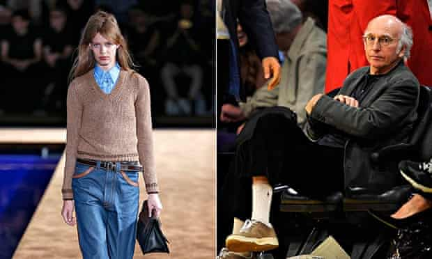 Normcore at Prada's Milan show, and Larry David, rated as the embodiment of the normcore aesthetic.