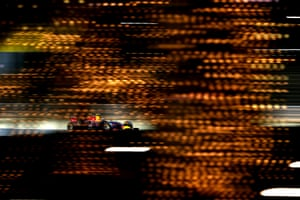 April 4: Daniel Ricciardo of Red Bull drives during practice for the Bahrain Formula One Grand Prix