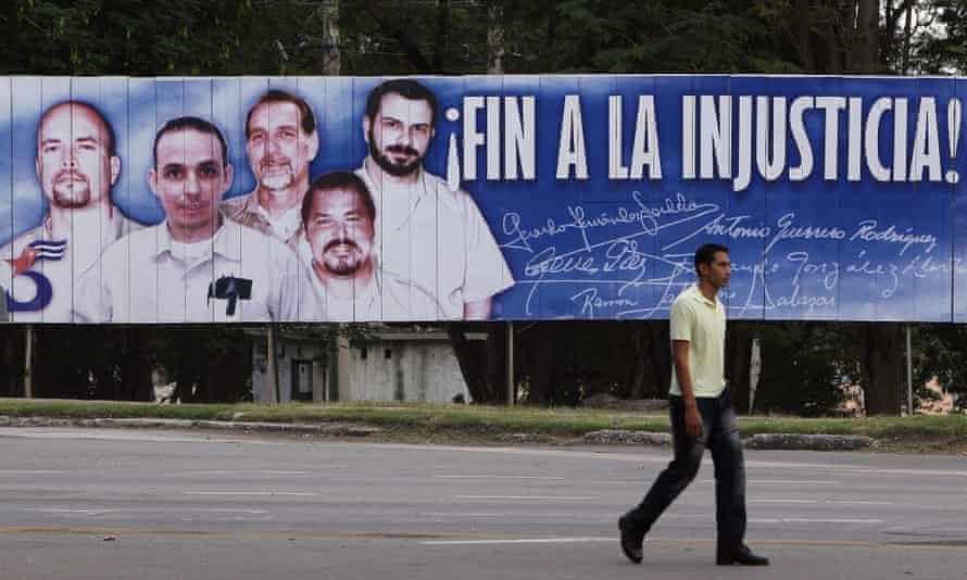 Cuban Five poster in Havana