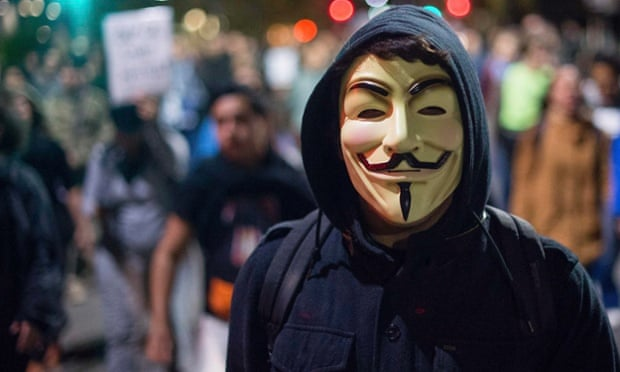 guy fawkes mask protest