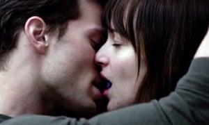 Jamie Dornan and Dakota Johnson in the Fifty Shades of Grey trailer.
