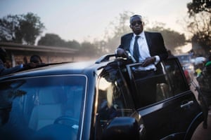 Terror and Tears in the Central African Republic - Alexandre Ferdinand Nguendet's bodyguard, President of the CNT (Central African Republic's Transitional Assembly).