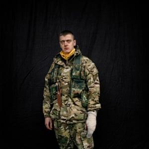 MAIDAN - Portraits from the Black Square. Fighters shot in a make-shift studio in Kiev.