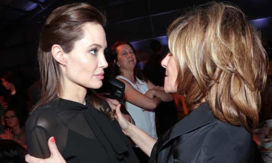 Angelina Jolie and Amy Pascal at the Women in Entertainment breakfast, 10 December.