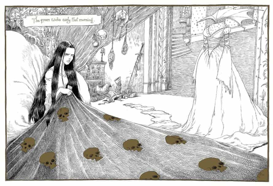 Chris Riddell illustration from Neil Gaiman's The Sleeper and the Spindle .