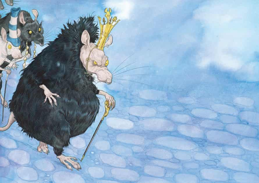 Chris Riddell illustratration from Russell Brand's The Pied Piper of Hamelin.