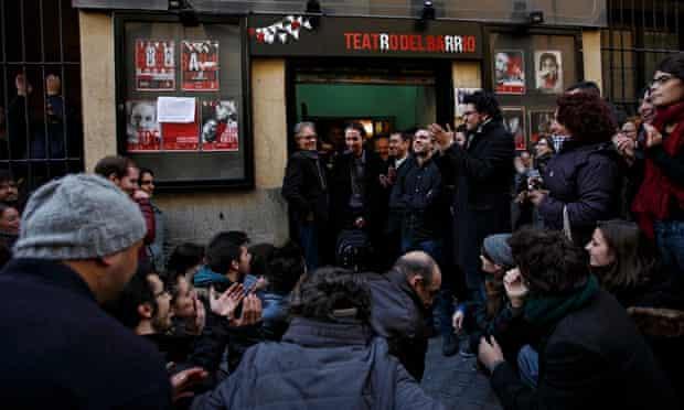 Pablo Iglesias, head of leftist group Podemos, in Madrid.