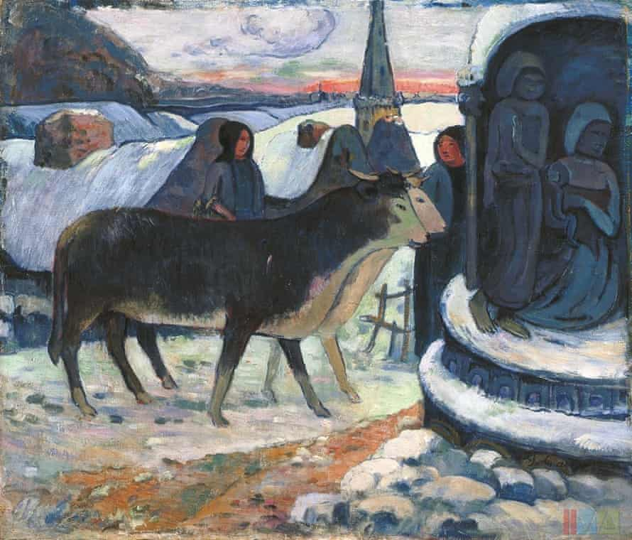 CHRISTMAS NIGHT (THE BLESSING OF THE OXEN) by Paul Gaugin 1902-1903.