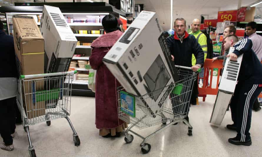 Shoppers in Asda on Black Friday