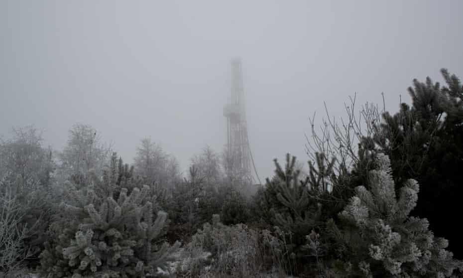 "Poland,MAJDAN SOPOCKI the first,06.12.2014,""Majdan Sopocki one"" PGNiG/ Chevron drilling rigCommissioned for FOREIGN NEWS re. shale fracking"