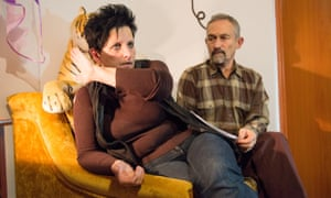 Poland,Zurawlow, 06.12.2014, Barbara Siegienczuk, Andrzej Bak during interviewCommissioned for FOREIGN NEWS re. shale fracking