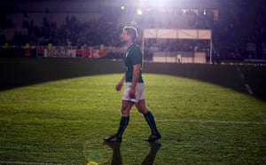 March 15: Ireland's Brian O'Driscoll walks on the field after his team defeated France in their Six Nations match at the Stade de France in Saint-Denis, near Paris – his last match for Ireland