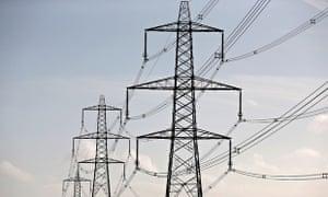 Electricity pylons near bristol