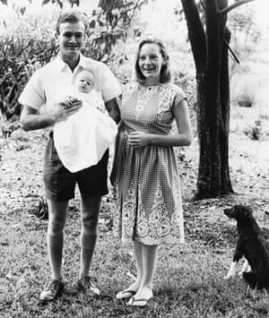 Alexandra Fuller's parents with her sister Van in Kenya, 1966.