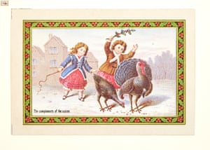 Many cards, like this one dating from the early 1870s, were made specifically for children to send or receive.