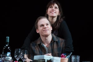 Michael C Hall, front, and Marisa Tomei in The Realistic Joneses