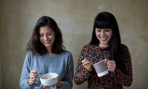 jasmine and melissa hemsley eating chicken soup
