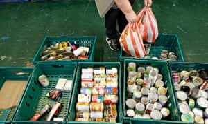 A woman visits a food bank in Aberdeen