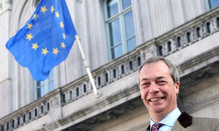 Nigel Farage and EU flag