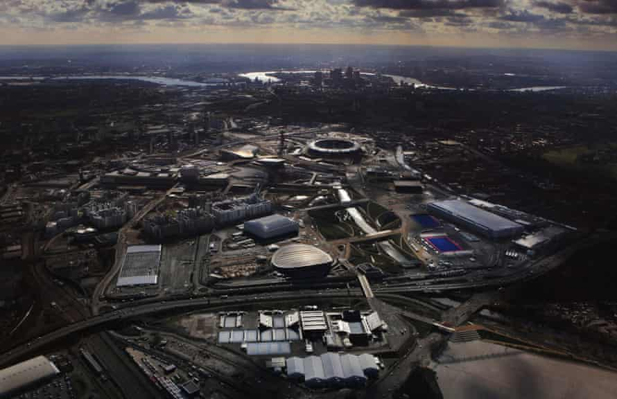 A view of the London Olympic Park in February 2012.