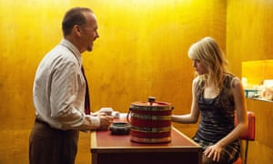 Keaton with Emma Stone in Birdman.
