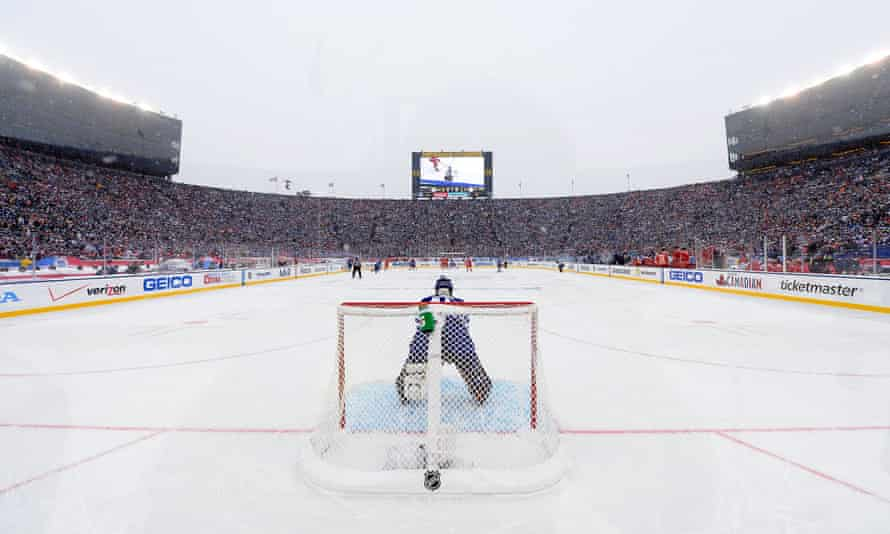 NHL Winter classic green carbon offsets