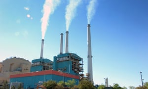 Smoke rises from the Colstrip Steam Electric Station, a coal-burning power plant in in Colstrip, Montana.