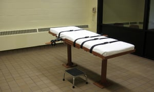 Execution chamber at the Southern Ohio Correctional Facility in Lucasville, Ohio.