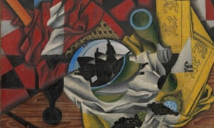 Pears and Grapes on a Table by Juan Gris (1913)