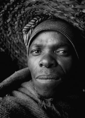 A man posing for a photo, during a visit to a herd boy night school constructed by his charity Sentebale in Mokhotlong