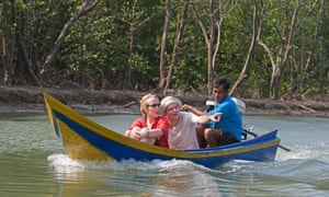 A tour of the mangroves in the village of Ban Talae Nok.