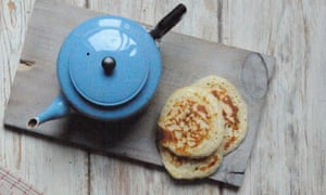 The pikelets are best served warm with a little salted butter and a soft-set jam, just as you might treat a crumpet.