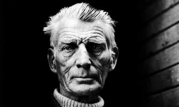 Samuel Beckett, pictured leaving the Royal Court Theatre, in London, via the stage door in 1976.