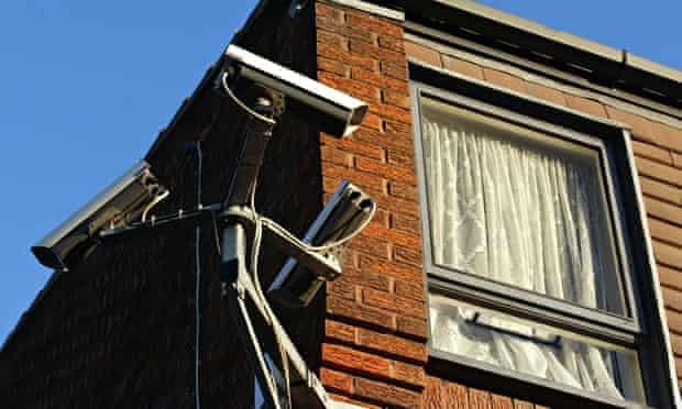 CCTV cameras on private homes