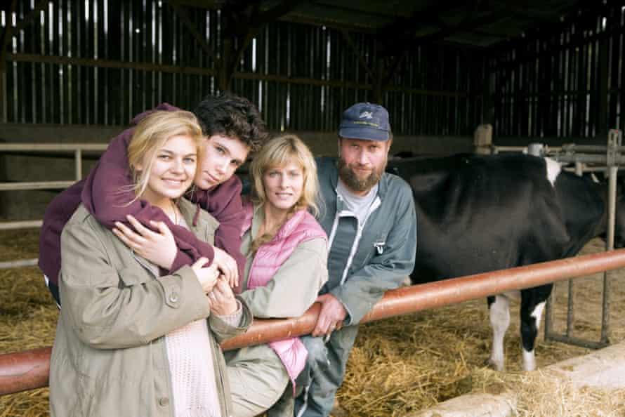 LOUANE EMERA, LUCA GELBERG, KARIN VIARD & FRANCOIS DAMIENS Film 'LA FAMILLE BELIER; THE ARIES FAMILY' (2014)