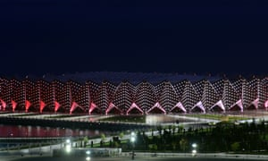 The Crystal Hall, built to stage handball and volleyball events during the inaugural 2015 European Games in Baku.