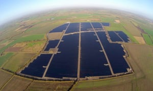 The 46MW solar Farm in East Hanney near Abingdon in Oxfordshire was the UK's largest when it connected to the grid in 2014.