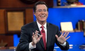 Stephen Colbert waves goodbye ... for now.